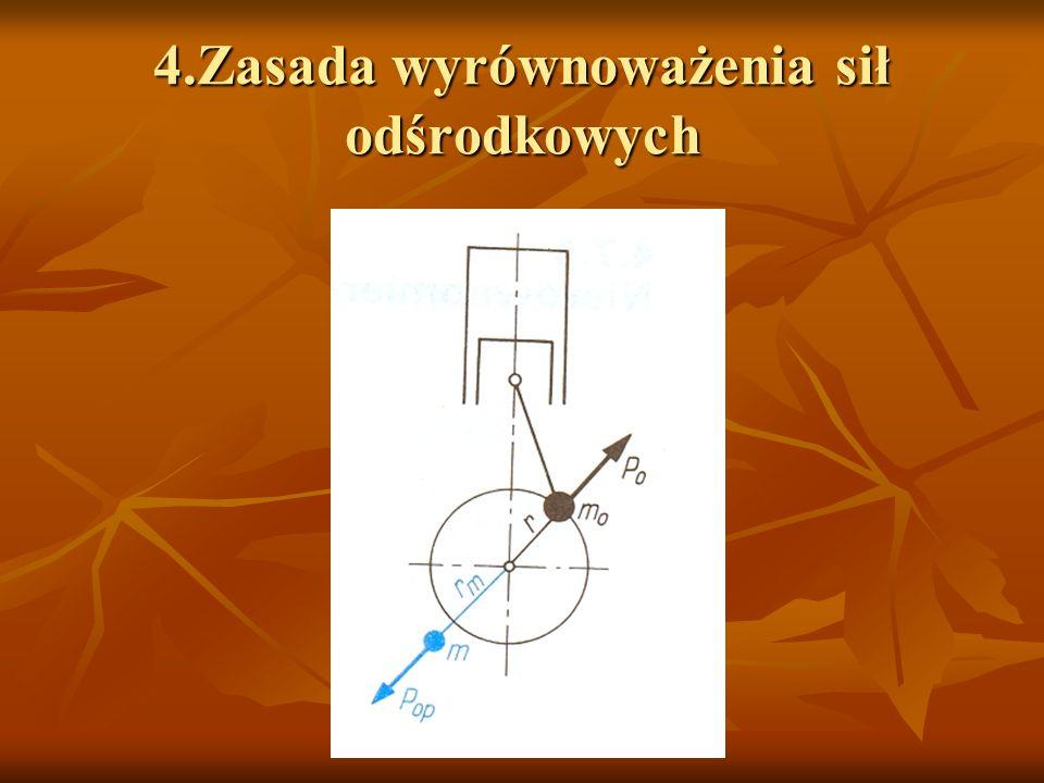 5.Przykłady rozmieszczenia przeciwciężarów w mechanizmach korbowych silników o rozmaitych układach konstrukcyjnych