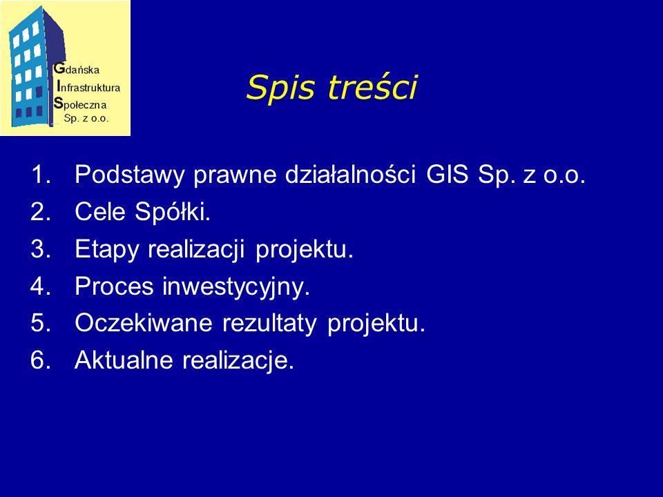1.Podstawy prawne działalności GIS Sp. z o.o. 2.Cele Spółki.