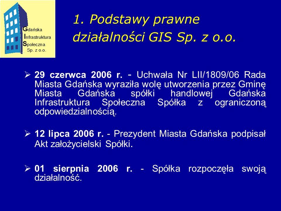 1. Podstawy prawne działalności GIS Sp. z o.o.  29 czerwca 2006 r.