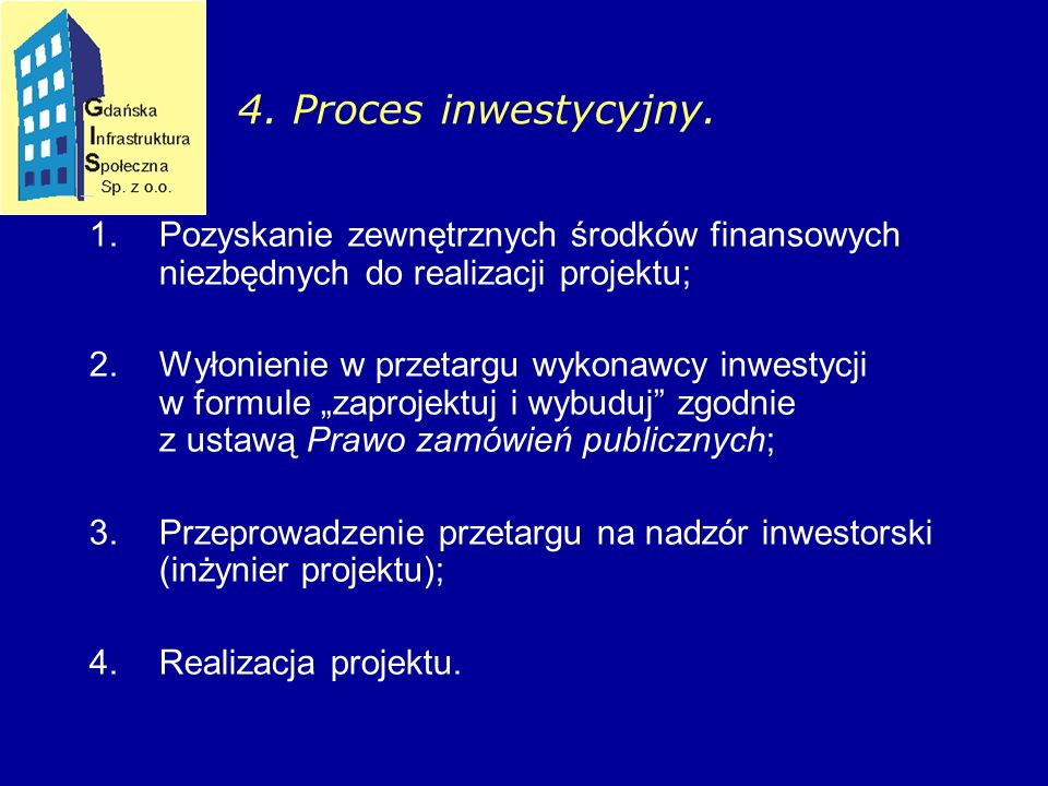 4. Proces inwestycyjny.