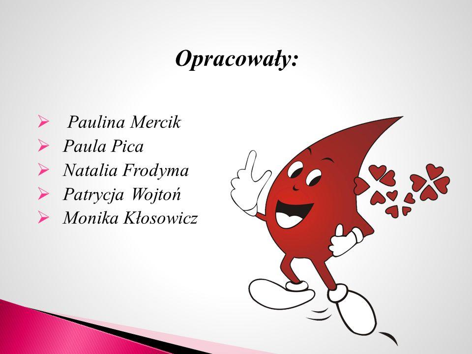 Opracowały:  Paulina Mercik  Paula Pica  Natalia Frodyma  Patrycja Wojtoń  Monika Kłosowicz