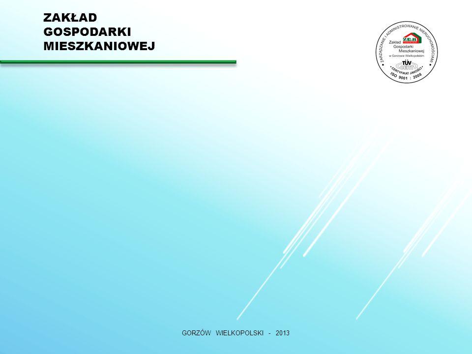 ZAKŁAD GOSPODARKI MIESZKANIOWEJ GORZÓW WIELKOPOLSKI - 2013