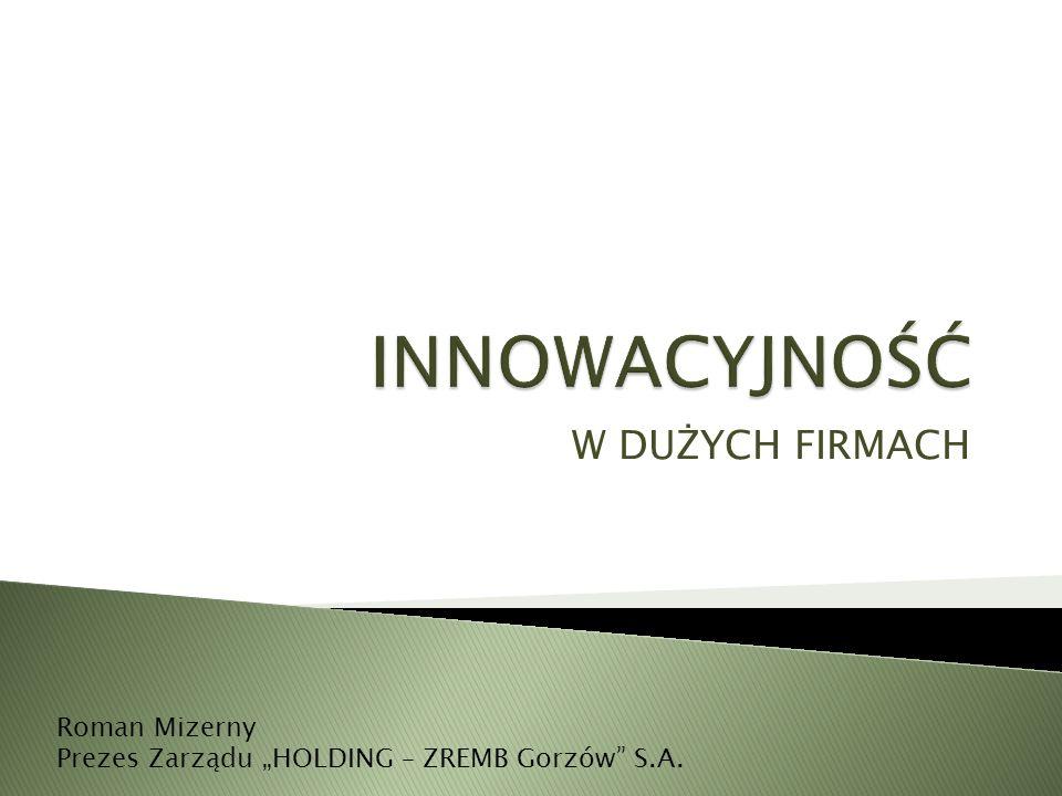 """W DUŻYCH FIRMACH Roman Mizerny Prezes Zarządu """"HOLDING – ZREMB Gorzów S.A."""