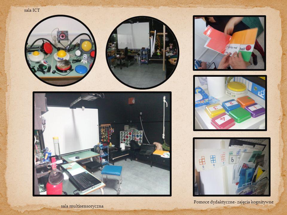 Pomoce dydaktyczne- zajęcia kognitywne sala ICT sala multisensoryczna