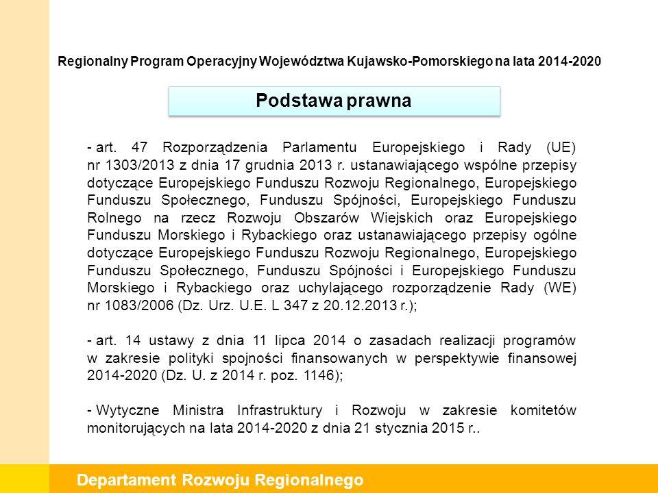 Departament Rozwoju Regionalnego I posiedzenie Komitetu planowane jest na dzień 23 marca 2015 r.