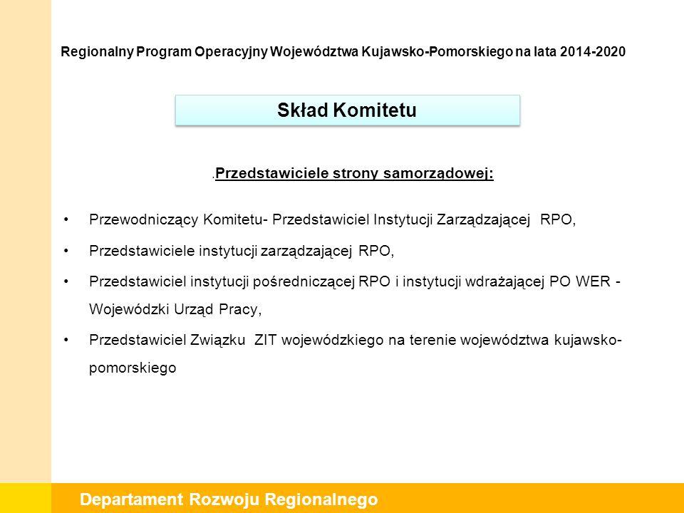 Departament Rozwoju Regionalnego.