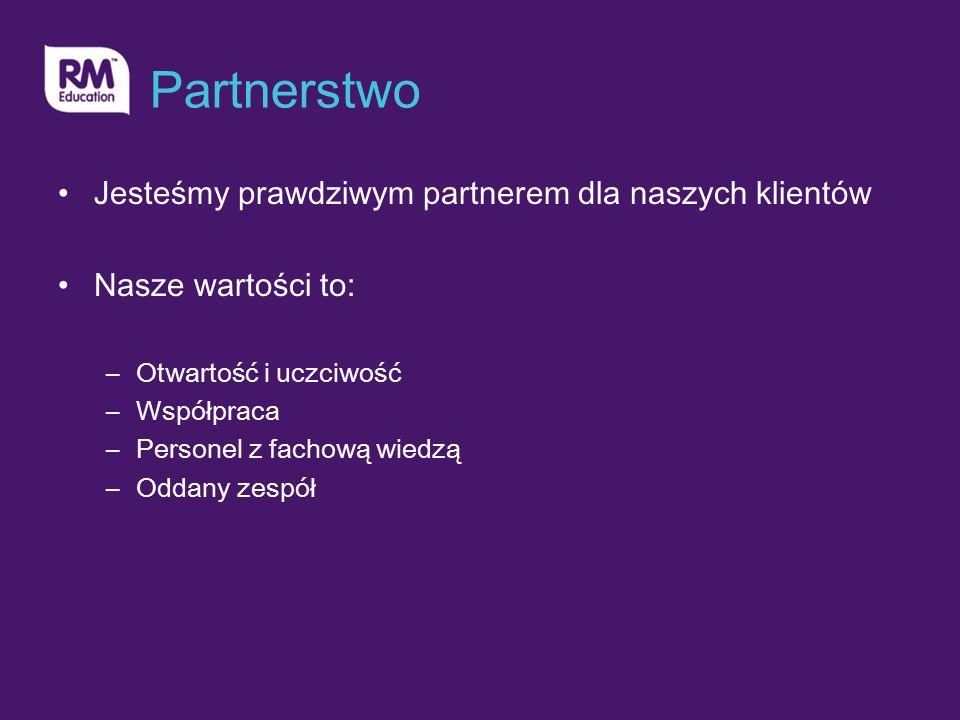 Partnerstwo Jesteśmy prawdziwym partnerem dla naszych klientów Nasze wartości to: –Otwartość i uczciwość –Współpraca –Personel z fachową wiedzą –Oddany zespół
