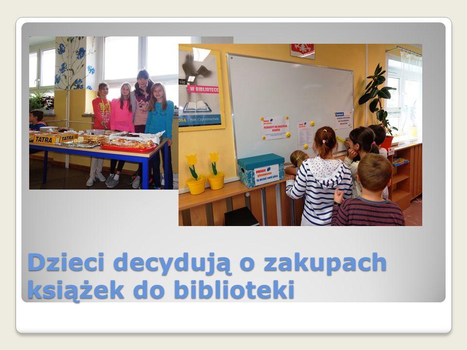 Dzieci decydują o zakupach książek do biblioteki