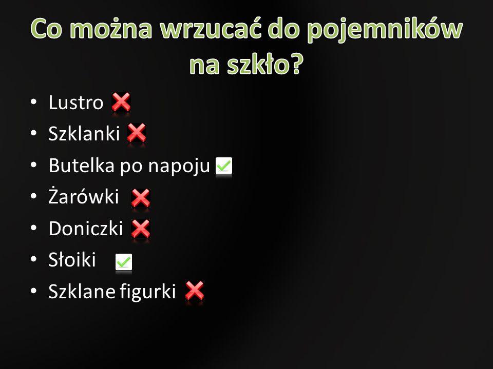 Lustro Szklanki Butelka po napoju Żarówki Doniczki Słoiki Szklane figurki
