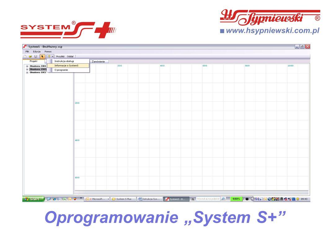 """Oprogramowanie """"System S+"""