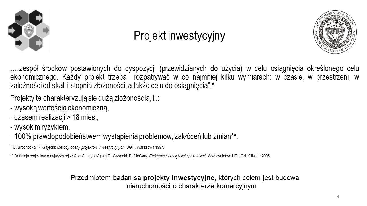 """""""…zespół środków postawionych do dyspozycji (przewidzianych do użycia) w celu osiągnięcia określonego celu ekonomicznego. Każdy projekt trzeba rozpatr"""