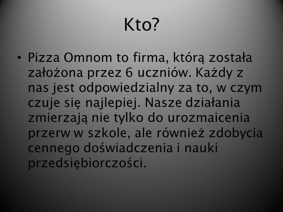 Gdzie. Pizza Omnom to firma uczniowska powstała przy II LO im.