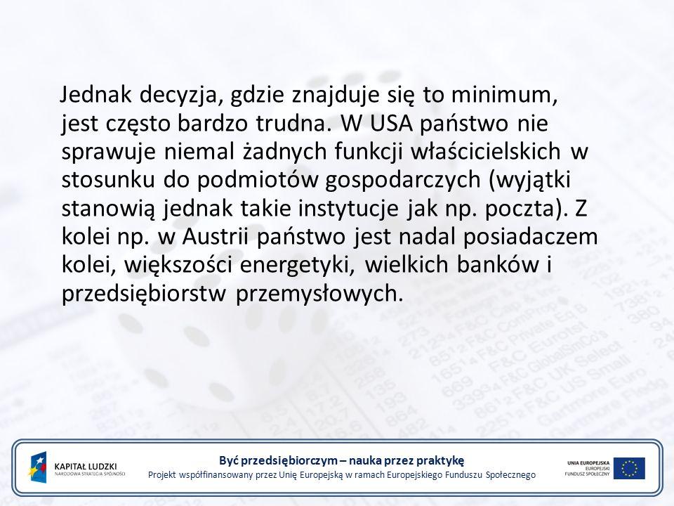 Być przedsiębiorczym – nauka przez praktykę Projekt współfinansowany przez Unię Europejską w ramach Europejskiego Funduszu Społecznego Jednak decyzja,