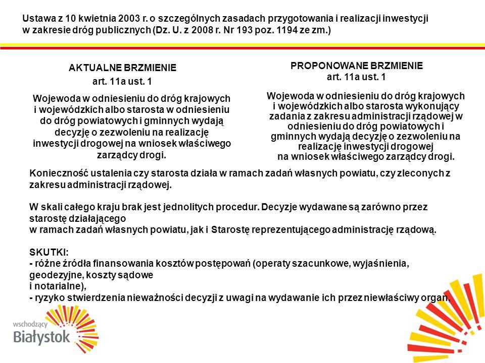 Ustawa z 10 kwietnia 2003 r.