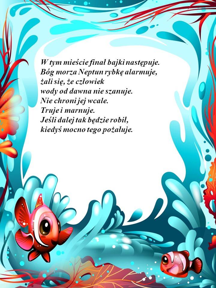W pewnej chwili słyszy jak ktoś śpiewa piosenkę, podpływa bliżej brzegu, spotyka warszawską syrenkę, z którą ucina sobie miłą pogawędkę.