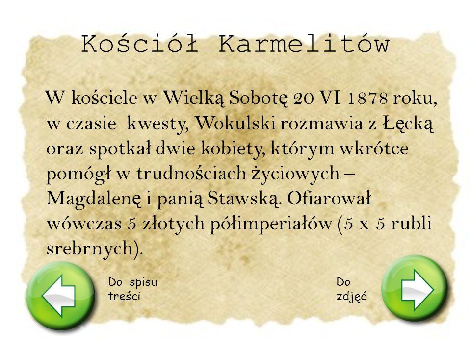 Kolumna Zygmunta Widzia ł j ą z okna swojego mieszkania Stanis ł aw Wokulski.