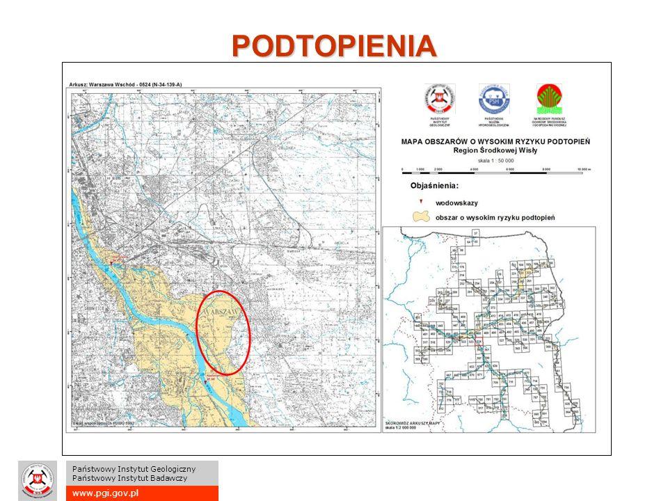 www.pgi.gov.pl Państwowy Instytut Geologiczny Państwowy Instytut Badawczy PODTOPIENIA