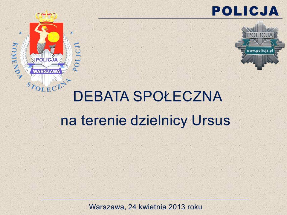 PRZESTĘPCZOŚĆ NIELETNICH (DANE OGÓLNE- UDZIAŁ PROCENTOWY) BEZPIECZEŃSTWO TO NASZA WSPÓLNA SPRAWA 2008 2009 2010 2011 2012 11,65% 10,93% 12,41% 8,88% 11,94% Komisariat Policji Warszawa Ursus, ul.