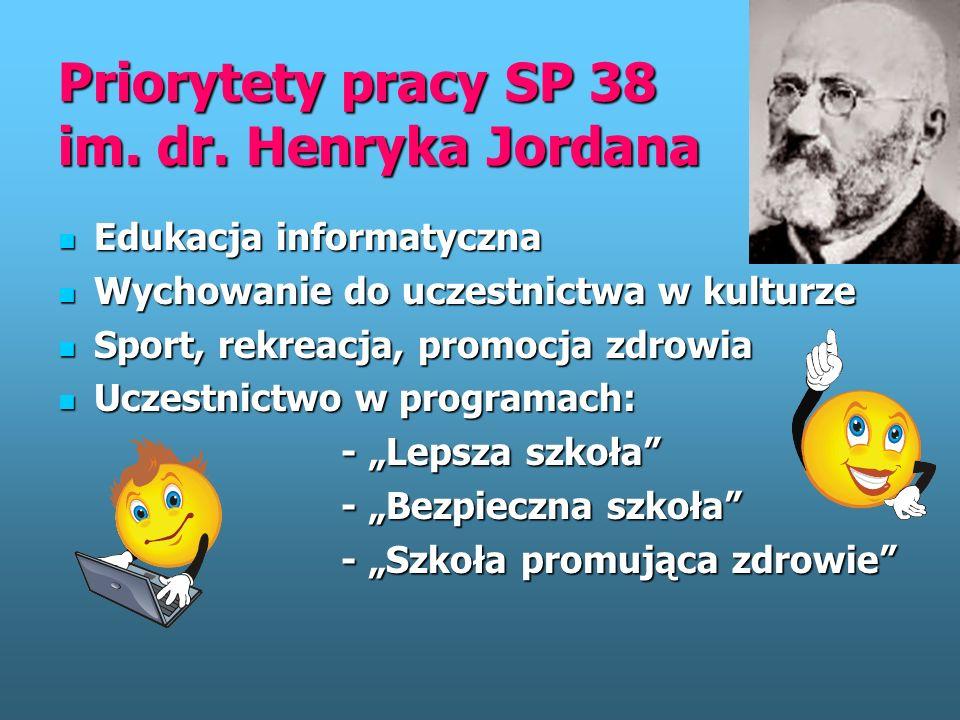 SZKOŁA PODSTAWOWA 38 im. dr. Henryka Jordana 93-144 ŁÓDŹ ul. Krochmalna 21 tel. (0-42) 663 66 81