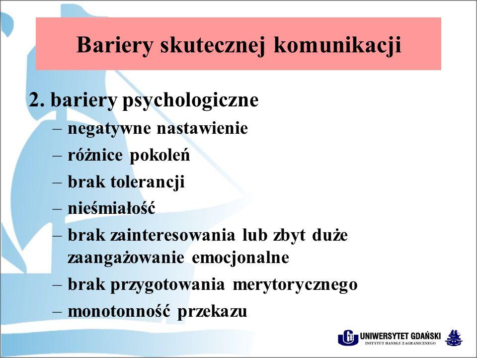 Bariery skutecznej komunikacji 2.