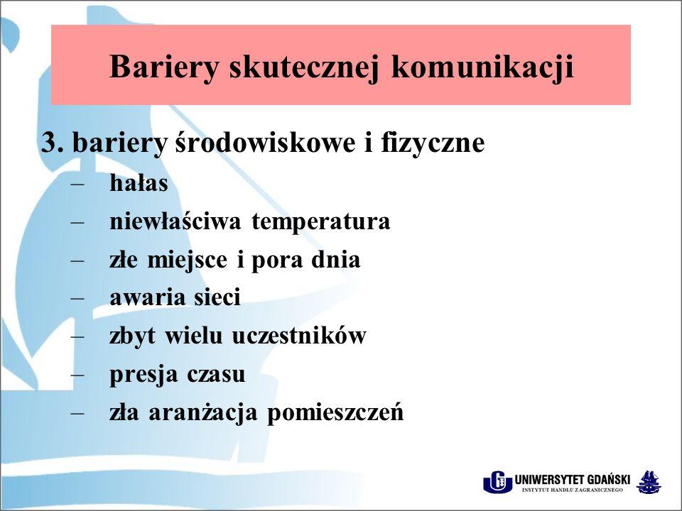 Bariery skutecznej komunikacji 3.