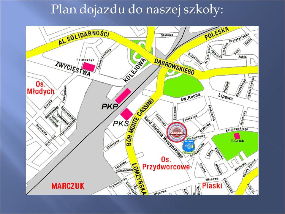 Plan dojazdu do naszej szkoły: