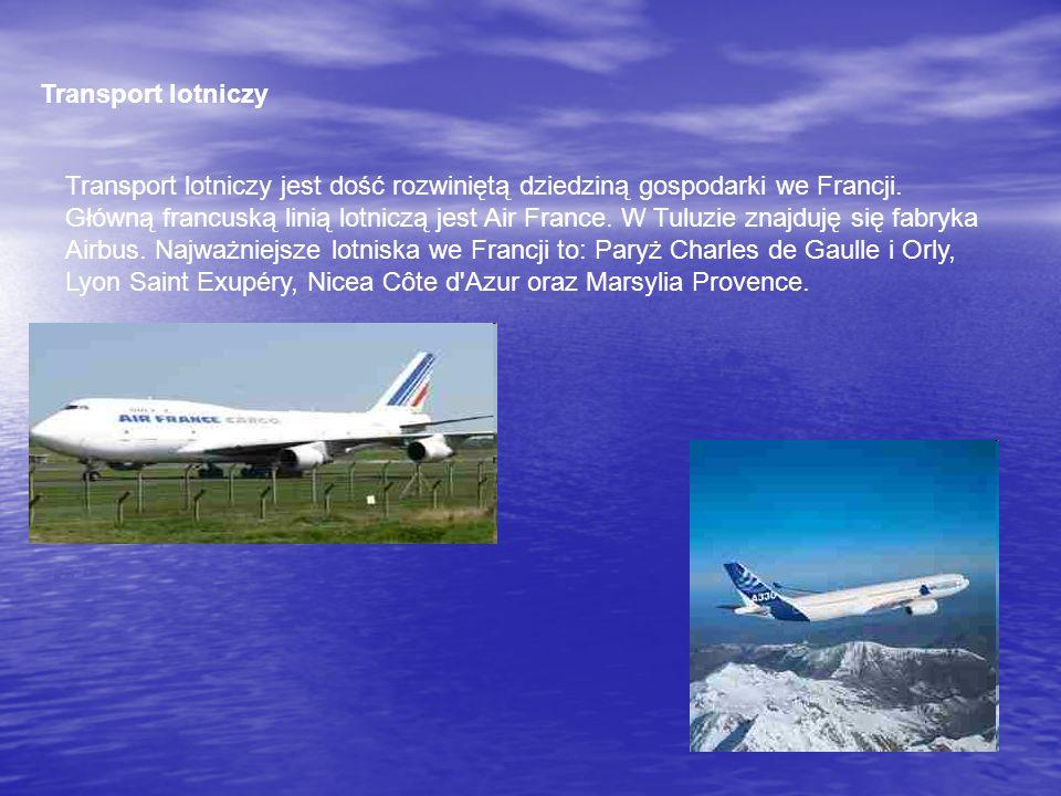 Transport lotniczy Transport lotniczy jest dość rozwiniętą dziedziną gospodarki we Francji. Główną francuską linią lotniczą jest Air France. W Tuluzie