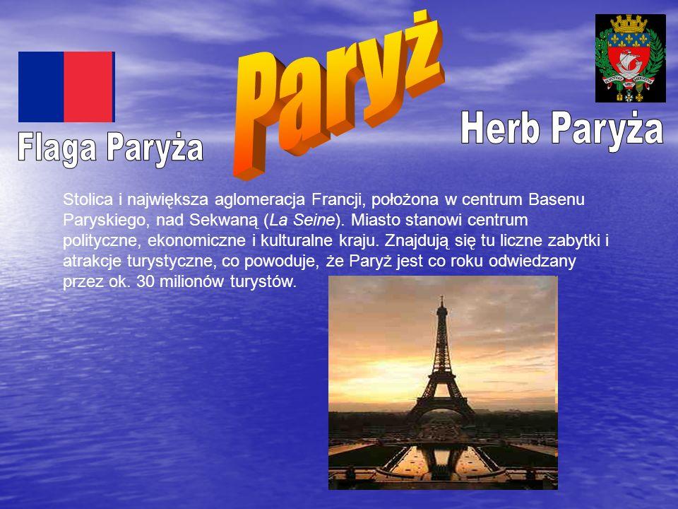 Stolica i największa aglomeracja Francji, położona w centrum Basenu Paryskiego, nad Sekwaną (La Seine). Miasto stanowi centrum polityczne, ekonomiczne