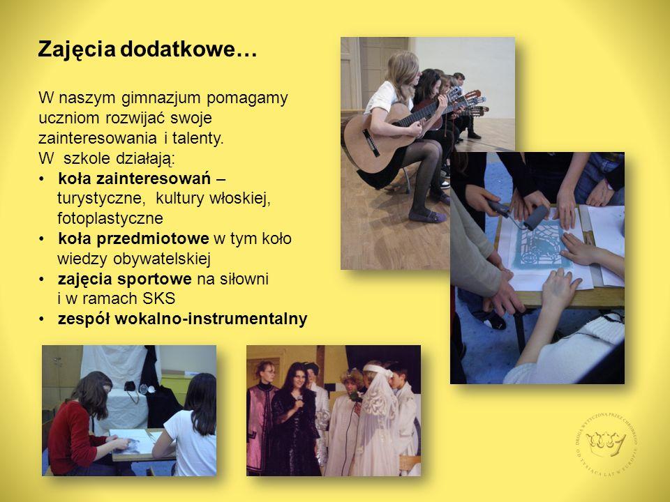 W naszym gimnazjum pomagamy uczniom rozwijać swoje zainteresowania i talenty.
