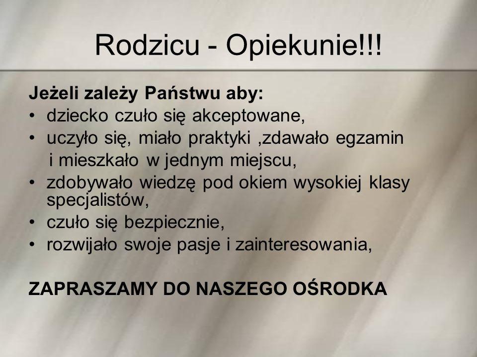 Rodzicu - Opiekunie!!.