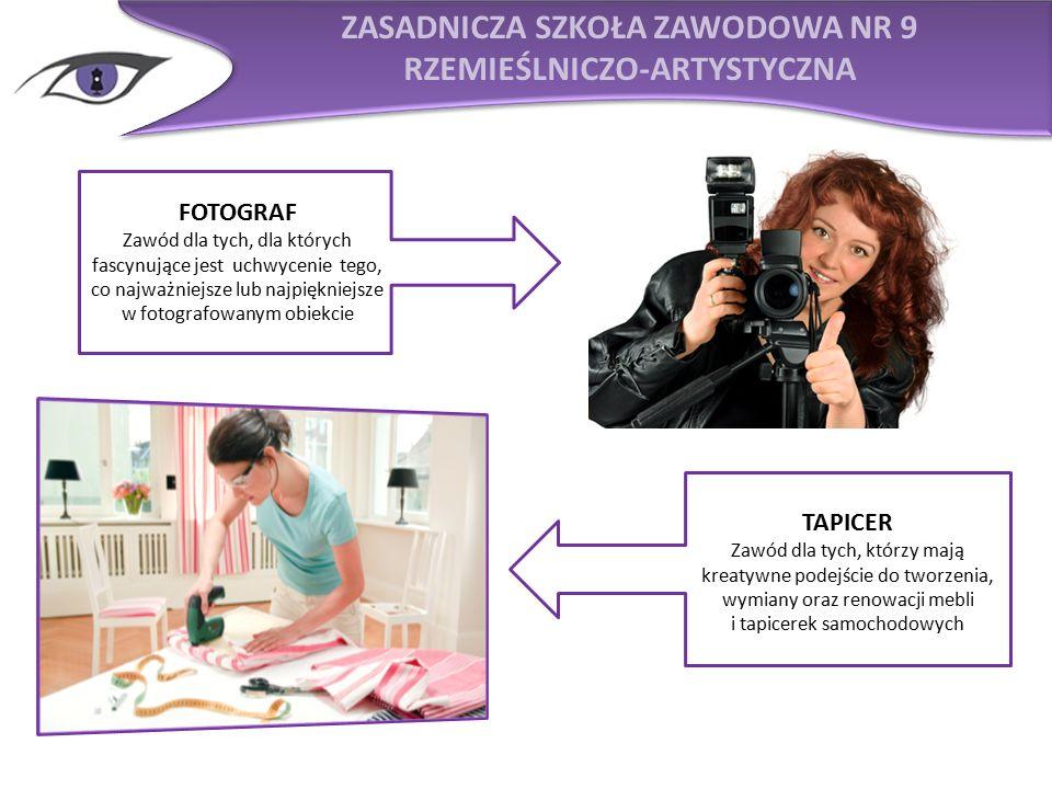 TWOJE PERSPEKTYWY ZAWODOWE PRACA KWALIFIKACYJNE KURSY ZAWODOWE WYKSZTAŁCENIE ŚREDNIE MATURA STUDIA TYTUŁ TECHNIKA  STUDIO FOTOGRAFICZNE  WYTWÓRNIE FILMOWE  WŁASNE STUDIO FOTOFRAFICZNE  WYDAWNICTWA  FOTOREPORTER  TELEWIZJA F OTOGRAF CYK, CYK … ZDJĘCIE PSTRYK!