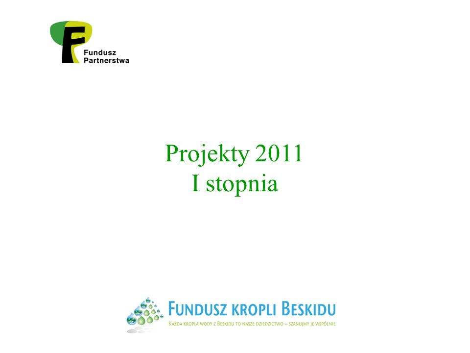Projekty 2011 I stopnia
