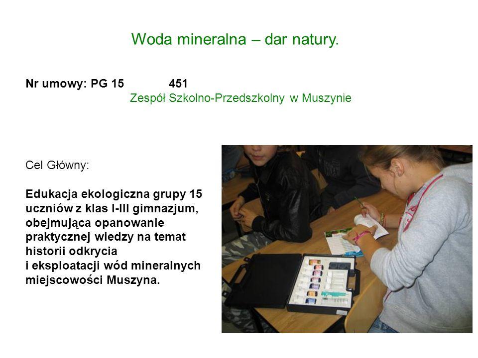 Woda mineralna – dar natury.