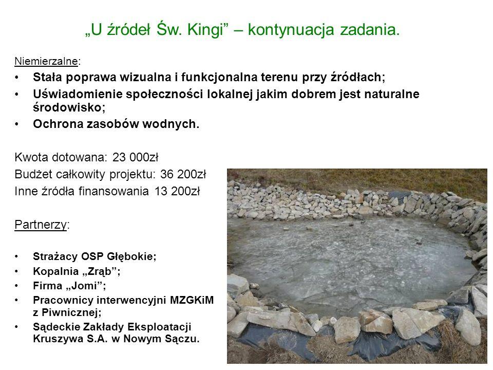 """""""U źródeł Św.Kingi – kontynuacja zadania."""
