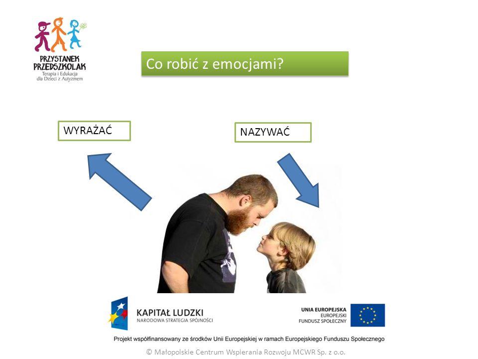 © Małopolskie Centrum Wspierania Rozwoju MCWR Sp. z o.o. Co robić z emocjami WYRAŻAĆ NAZYWAĆ