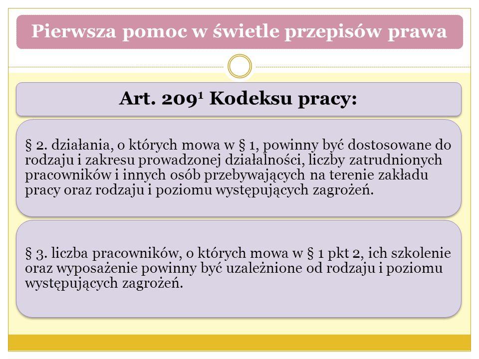 Art. 209 1 Kodeksu pracy: § 2. działania, o których mowa w § 1, powinny być dostosowane do rodzaju i zakresu prowadzonej działalności, liczby zatrudni