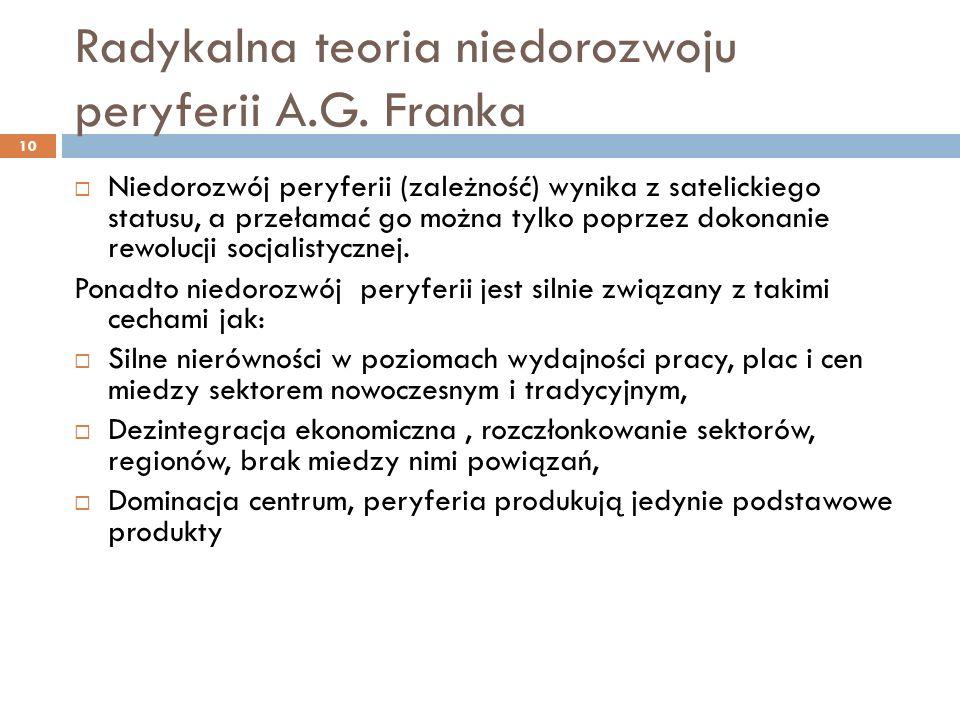 Radykalna teoria niedorozwoju peryferii A.G.