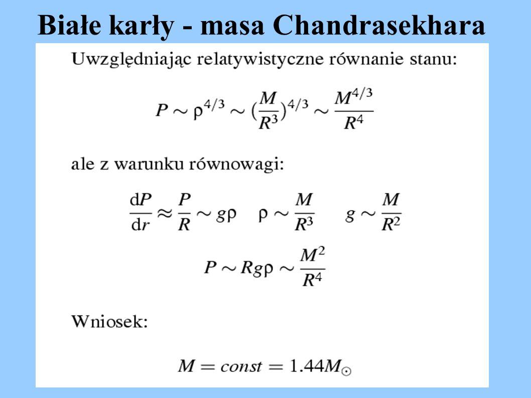 Białe karły - masa Chandrasekhara