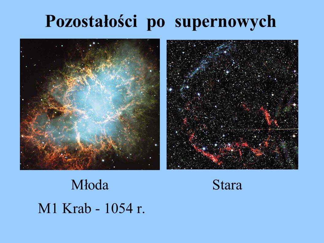 Pozostałości po supernowych Młoda Stara M1 Krab - 1054 r.