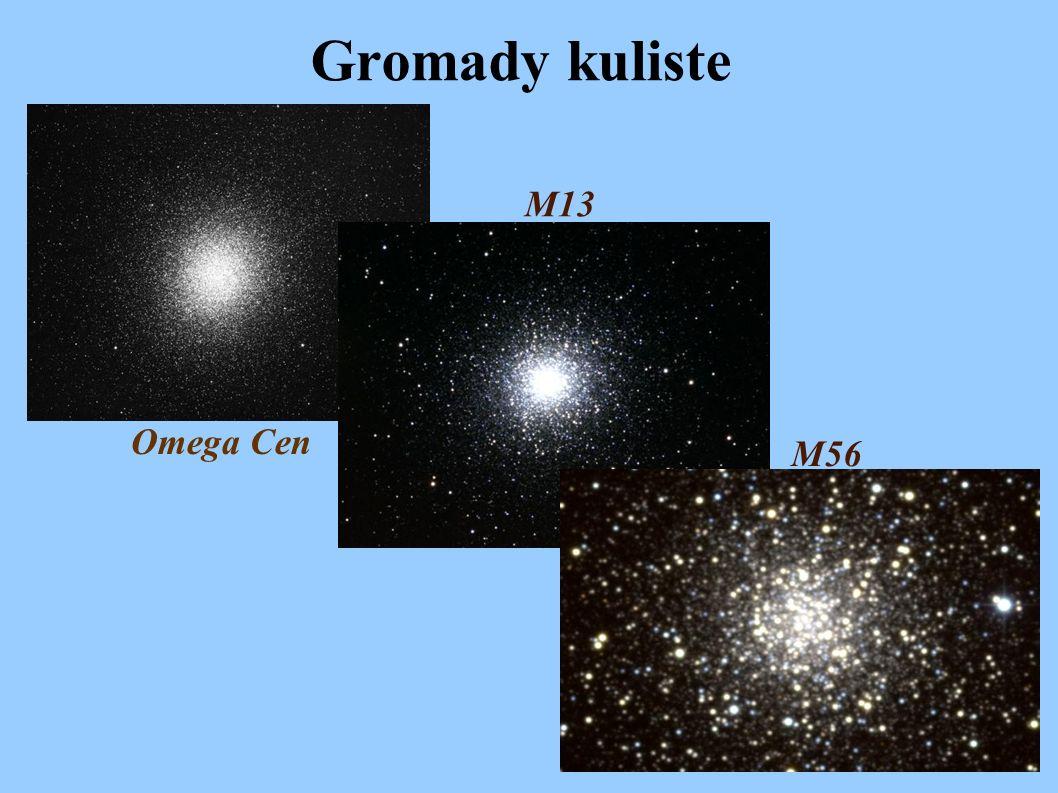Gromady kuliste Omega Cen M13 M56