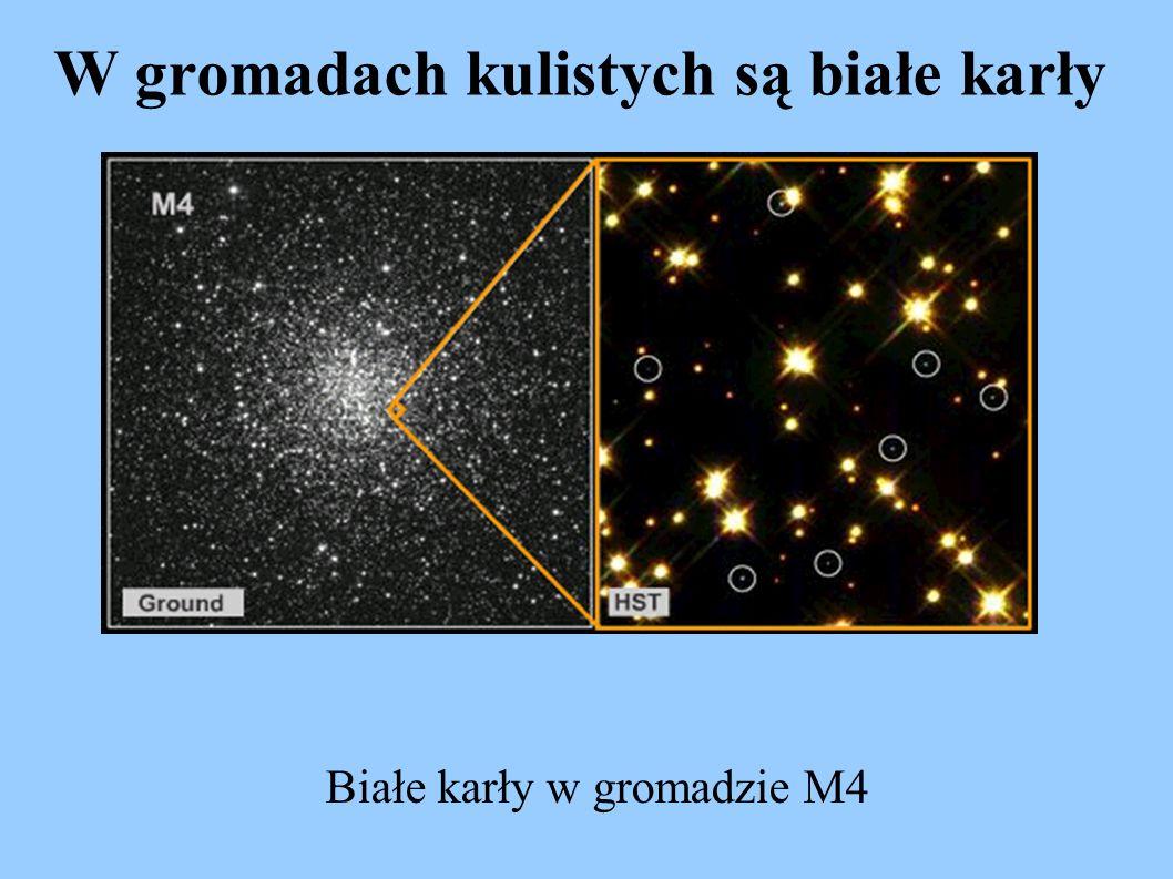 W gromadach kulistych są białe karły Białe karły w gromadzie M4