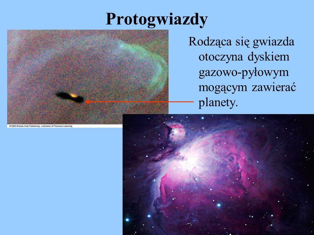 Protogwiazdy Rodząca się gwiazda otoczyna dyskiem gazowo-pyłowym mogącym zawierać planety.