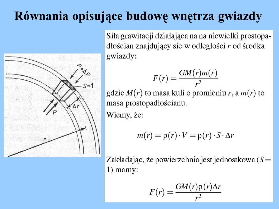 Równania opisujące budowę wnętrza gwiazdy