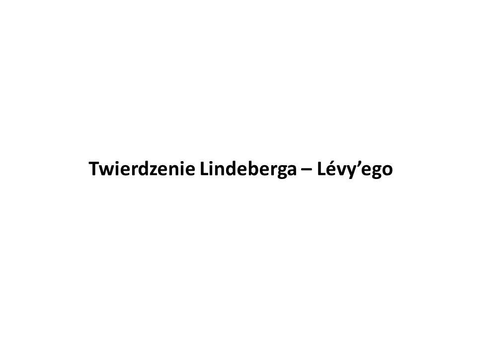 Twierdzenie Lindeberga – Lévy'ego