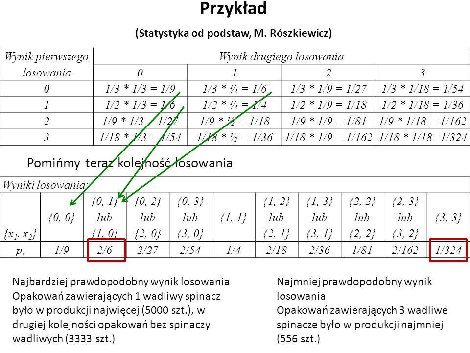Przykład (Statystyka od podstaw, M.