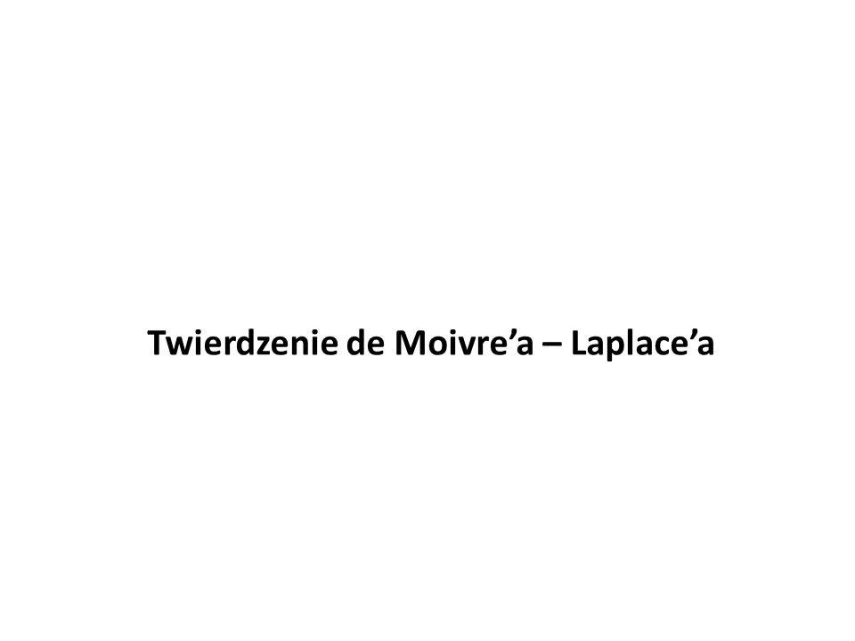 Twierdzenie de Moivre'a – Laplace'a