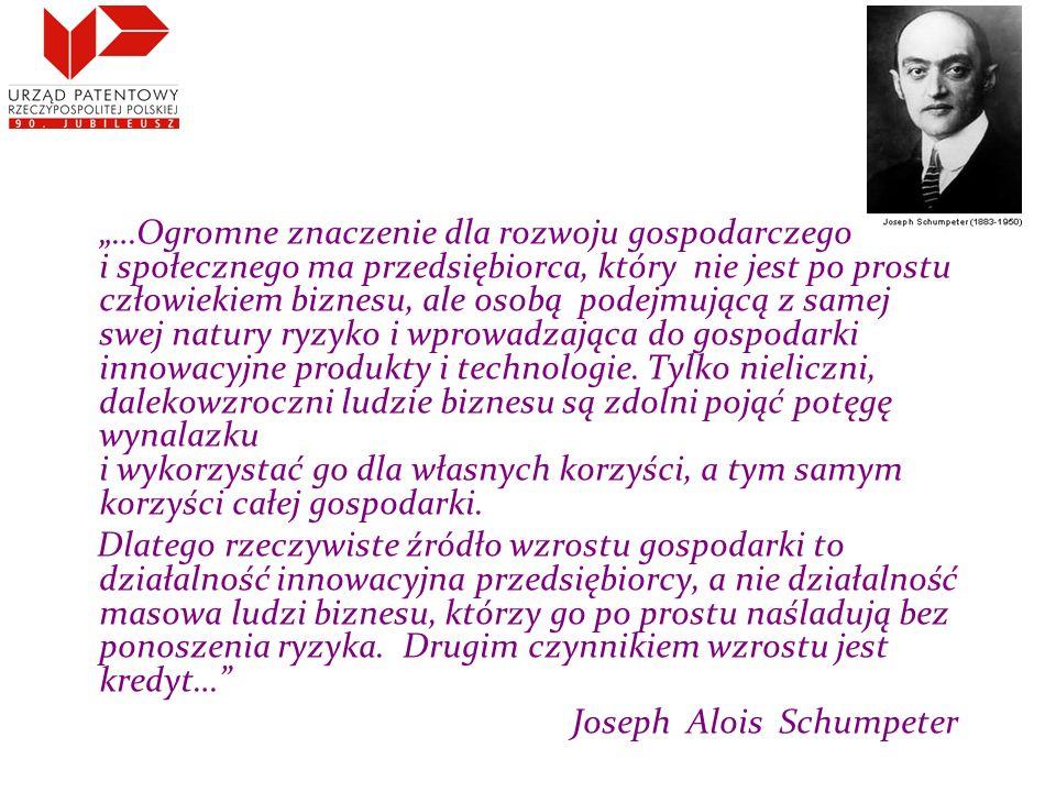 """""""…Ogromne znaczenie dla rozwoju gospodarczego i społecznego ma przedsiębiorca, który nie jest po prostu człowiekiem biznesu, ale osobą podejmującą z samej swej natury ryzyko i wprowadzająca do gospodarki innowacyjne produkty i technologie."""