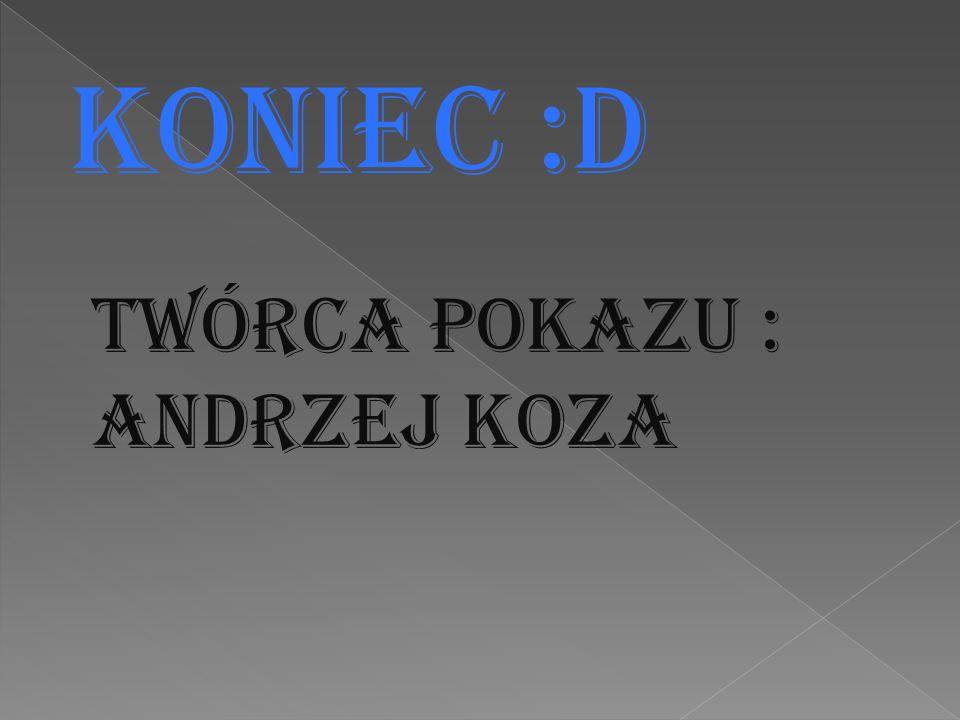Koniec :D Twórca Pokazu : Andrzej Koza