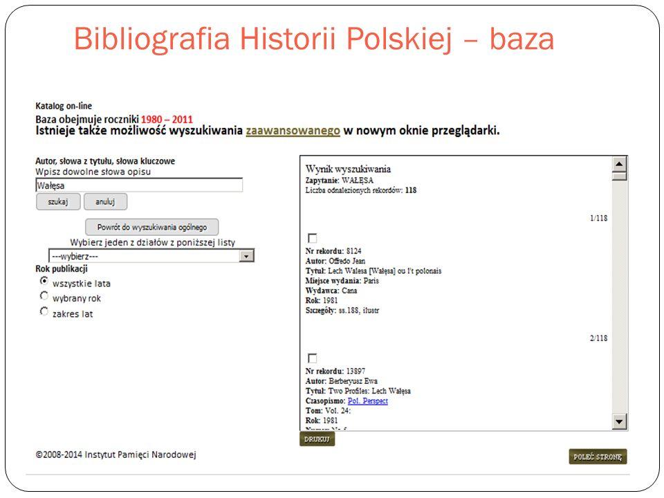 Bibliografia Historii Polskiej – baza