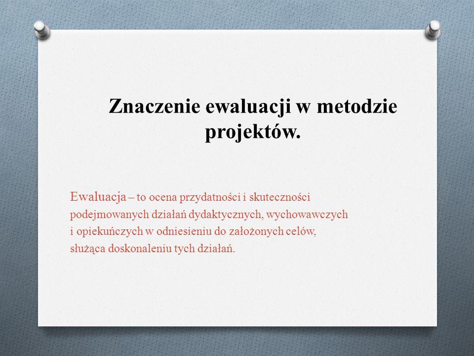 Znaczenie ewaluacji w metodzie projektów.